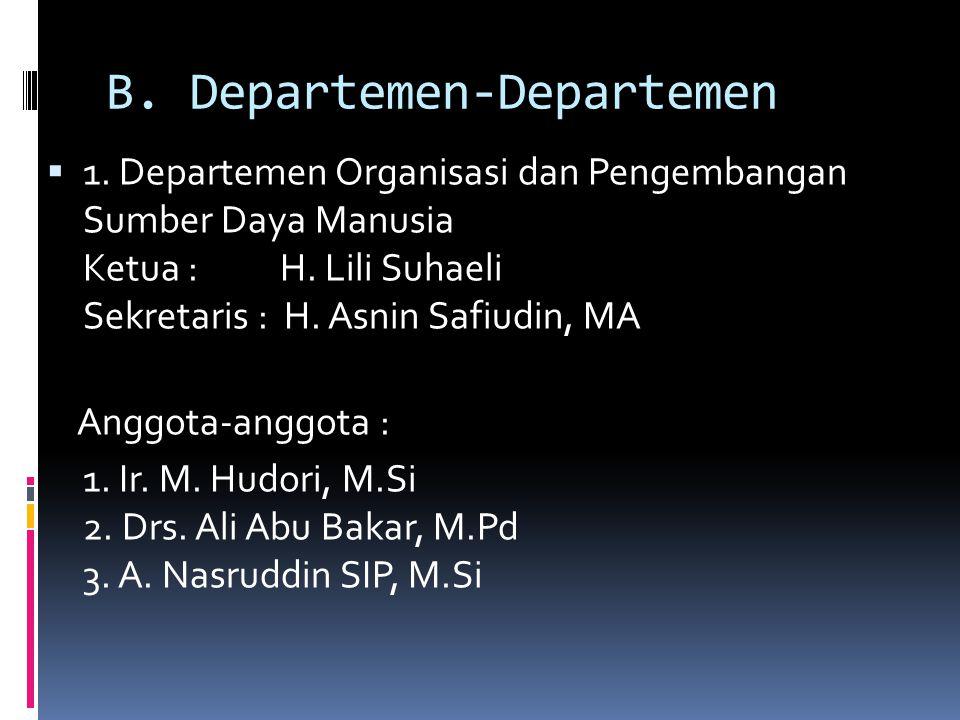 B. Departemen-Departemen