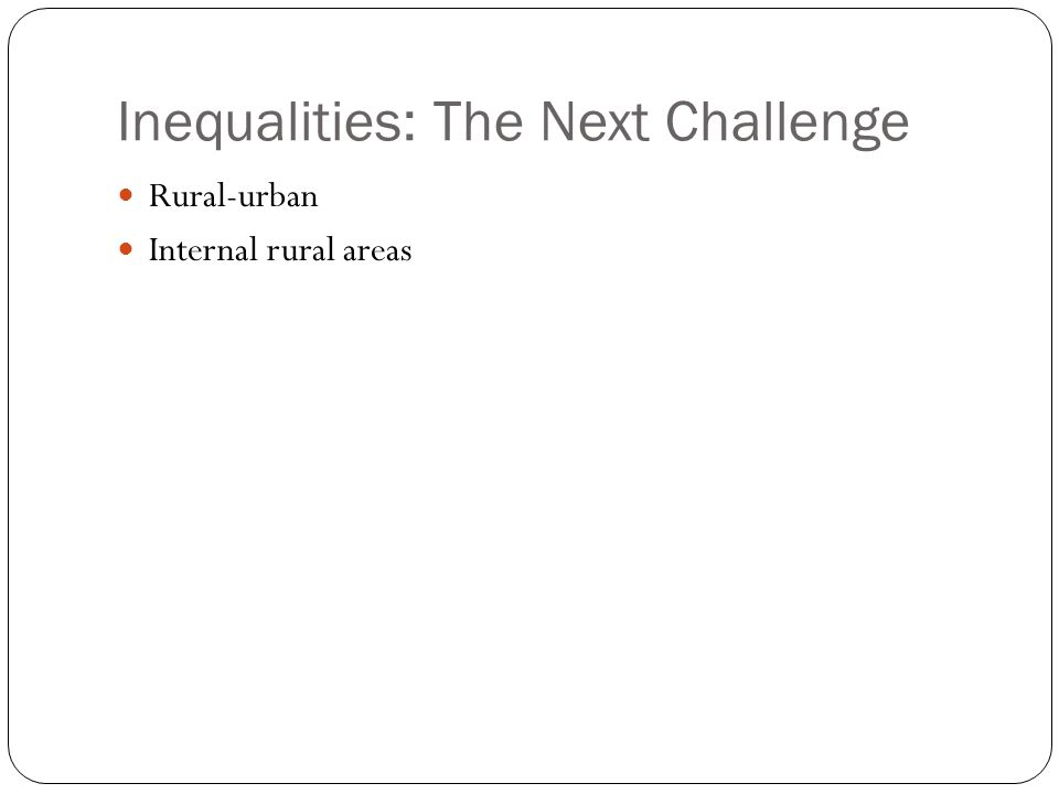 Inequalities: The Next Challenge