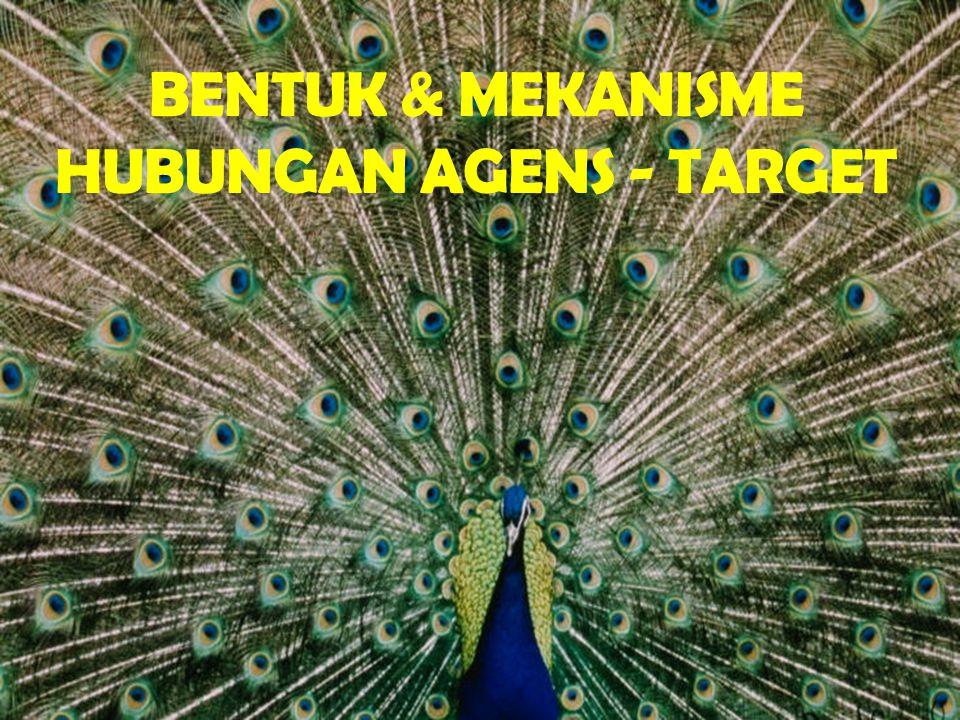 BENTUK & MEKANISME HUBUNGAN AGENS - TARGET