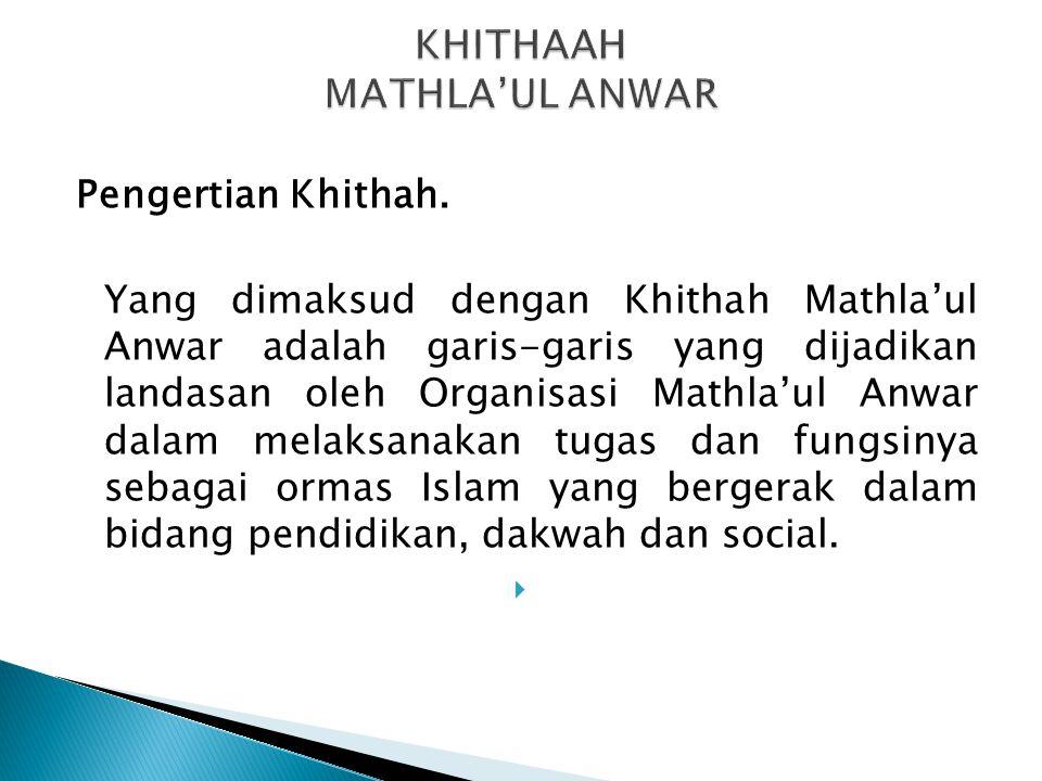 KHITHAAH MATHLA'UL ANWAR