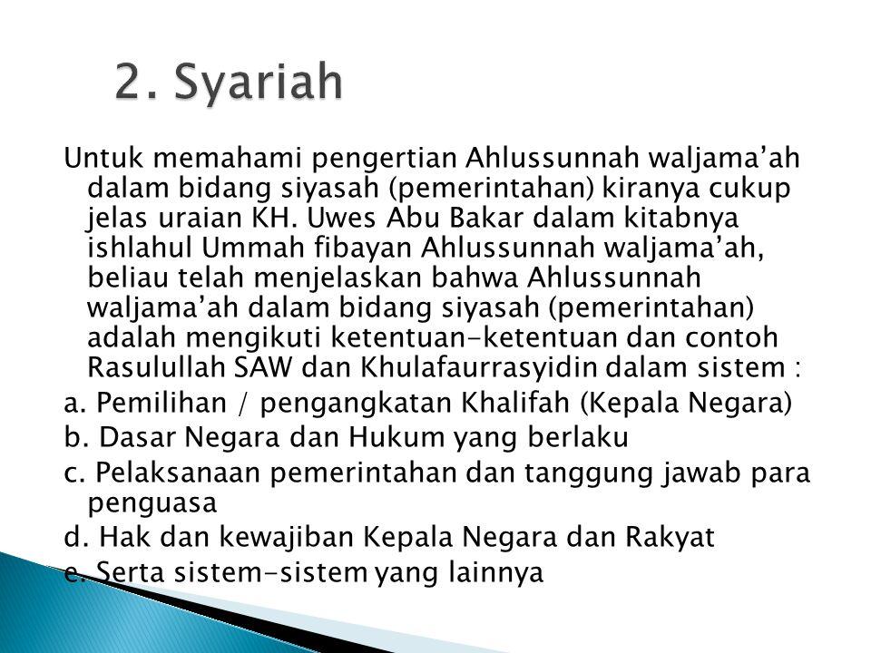 2. Syariah