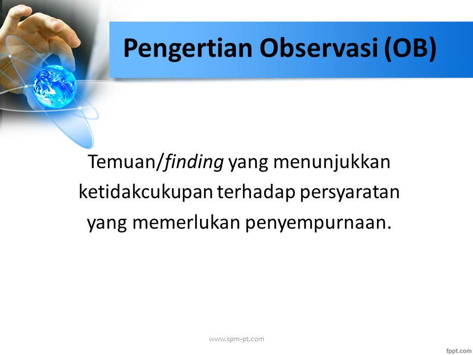 Pengertian Observasi (OB)