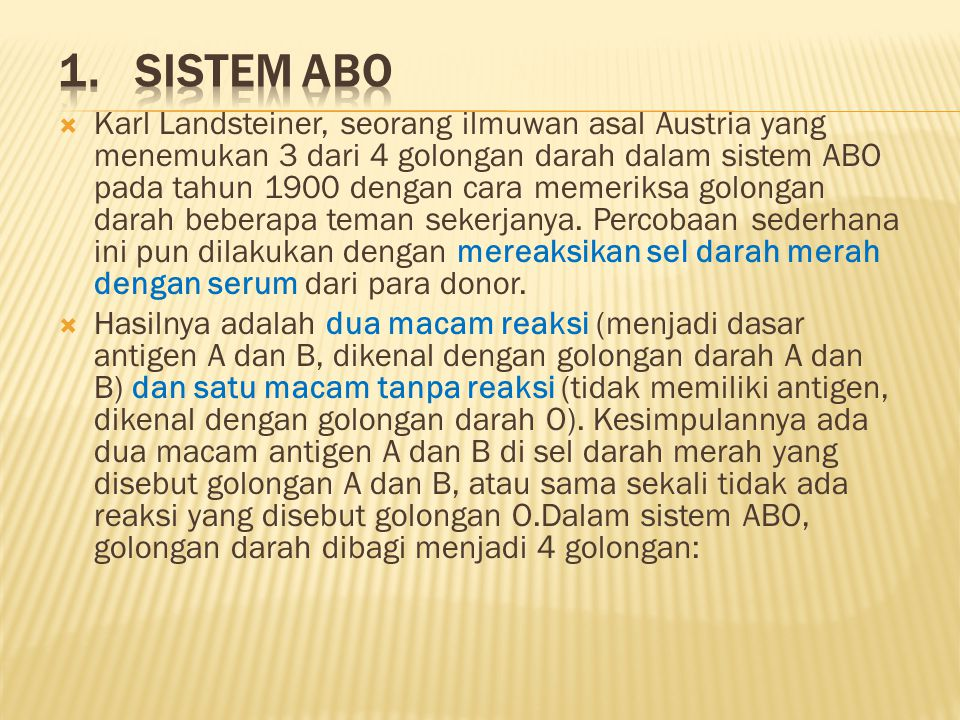 1. Sistem ABO
