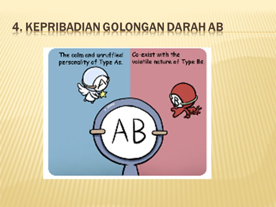4. Kepribadian Golongan Darah AB
