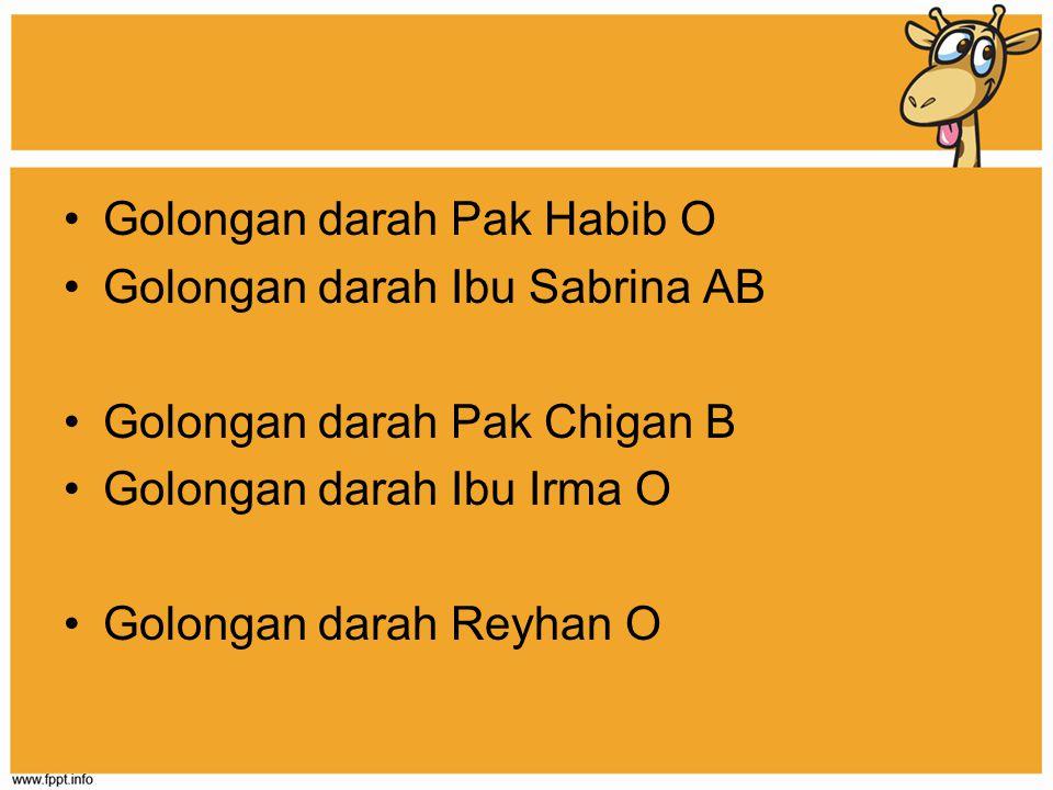 Golongan darah Pak Habib O