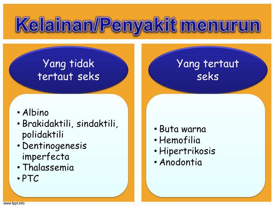 Kelainan/Penyakit menurun