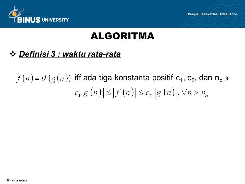 ALGORITMA Definisi 3 : waktu rata-rata