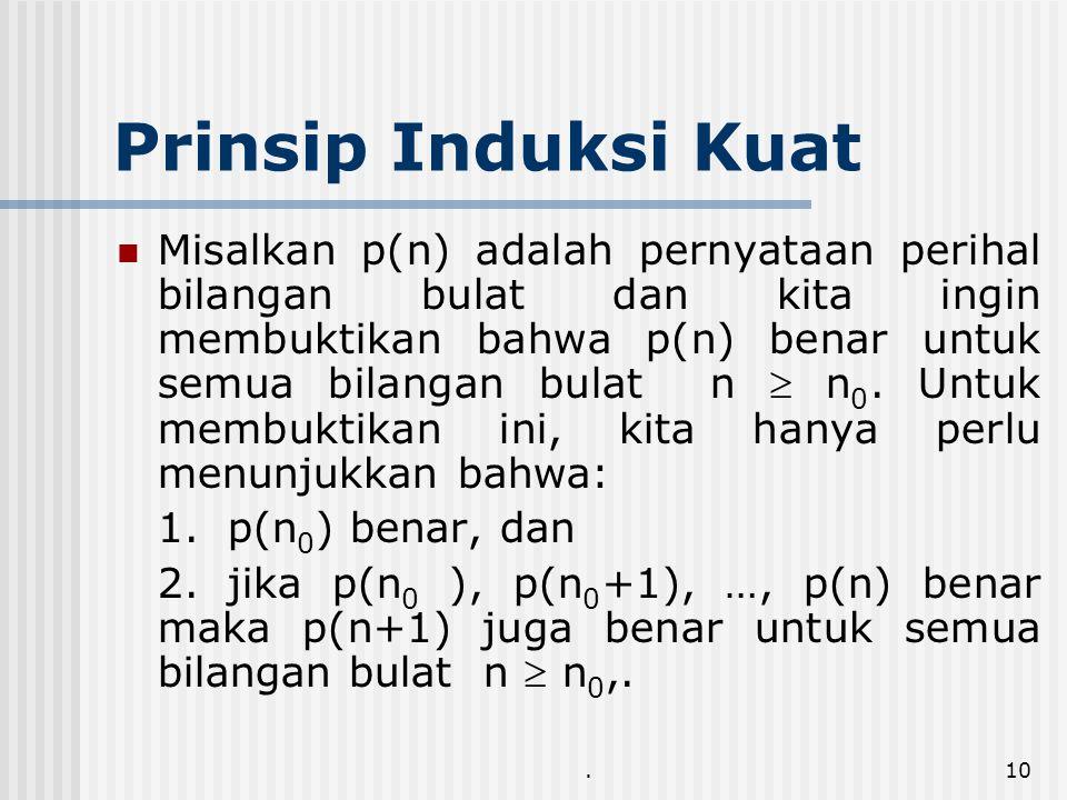 Prinsip Induksi Kuat