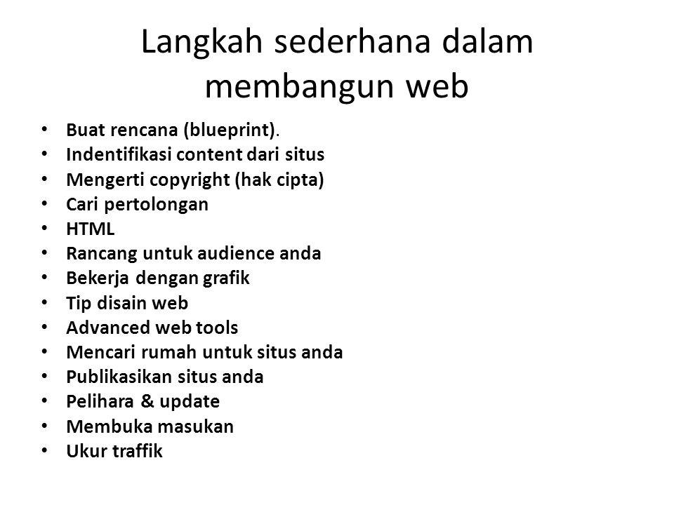 Langkah sederhana dalam membangun web