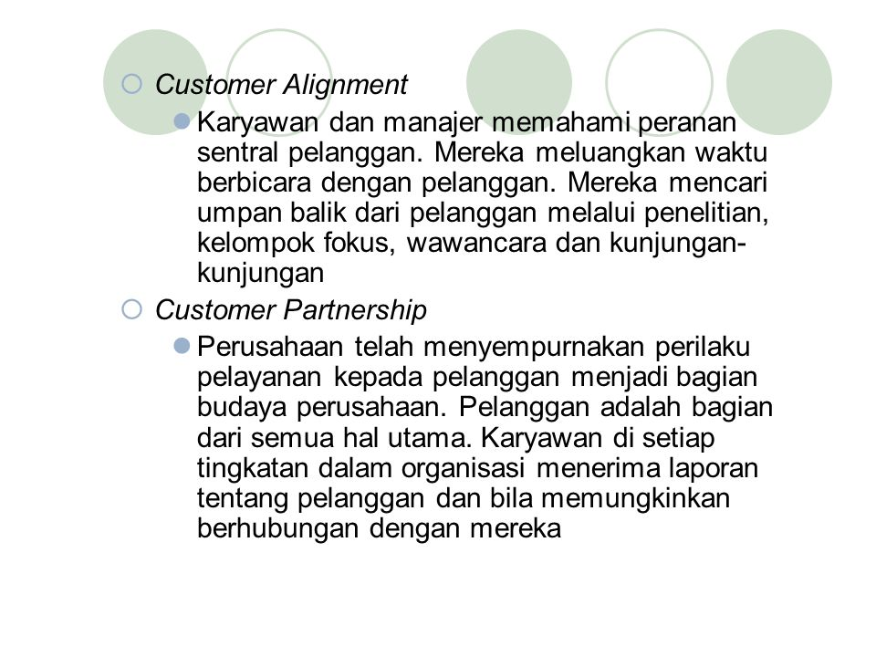 Customer Alignment