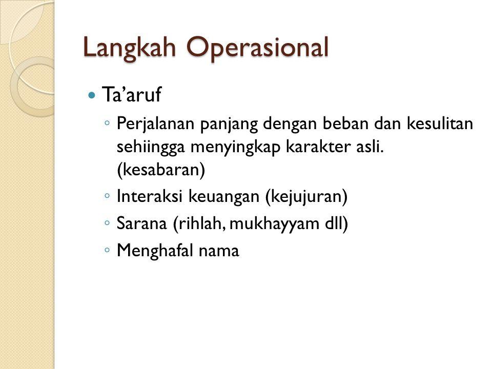 Langkah Operasional Ta'aruf
