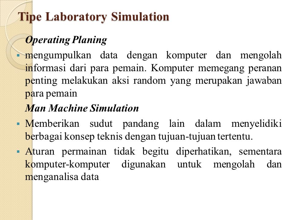 Tipe Laboratory Simulation
