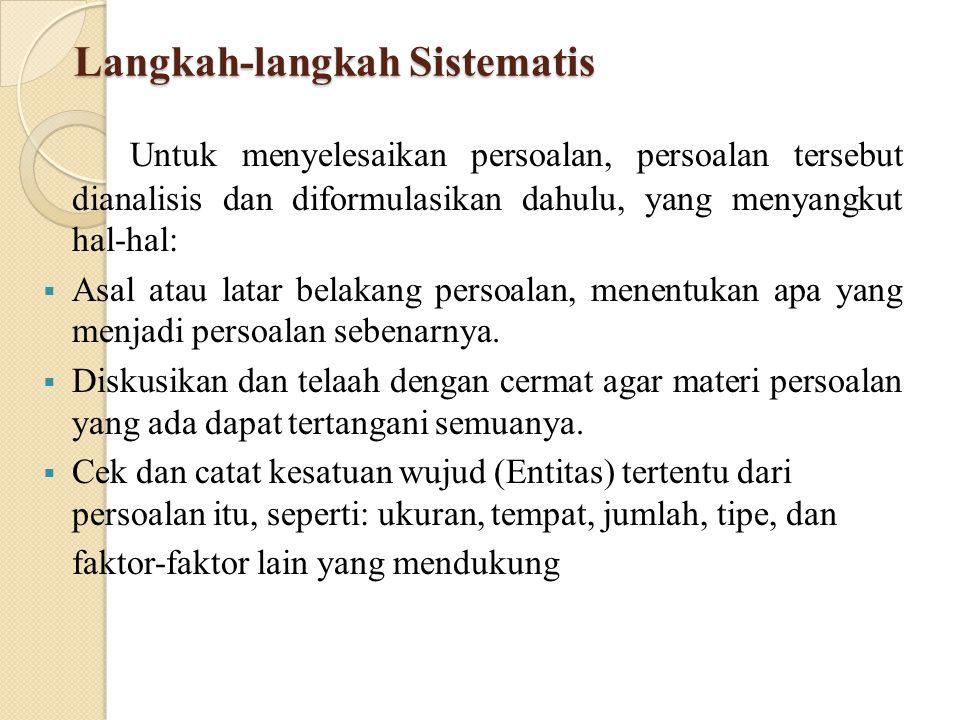Langkah-langkah Sistematis