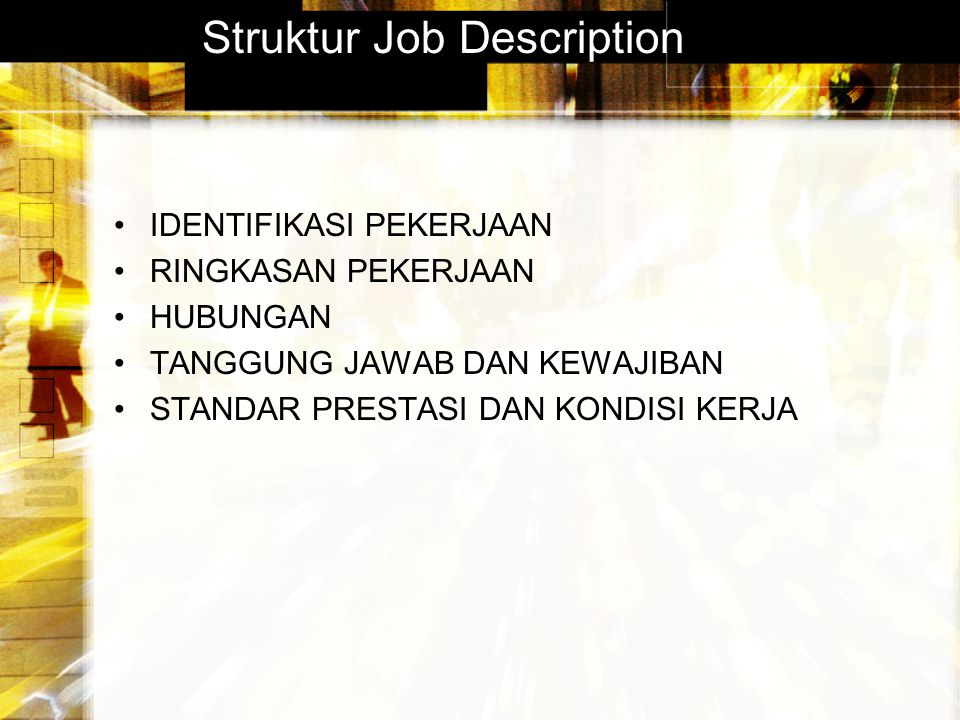 Struktur Job Description