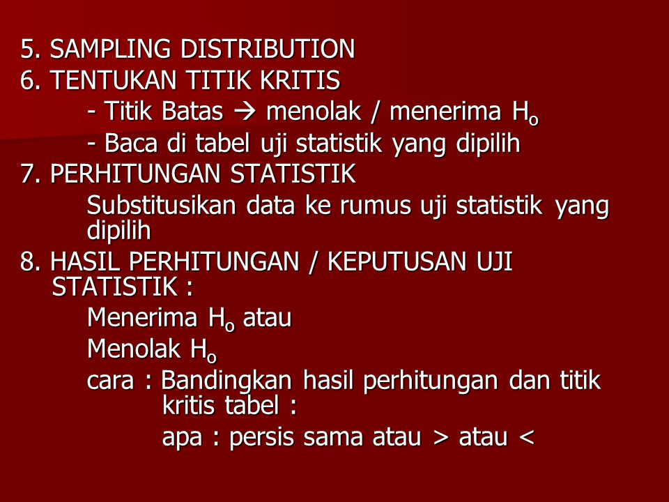 5. SAMPLING DISTRIBUTION