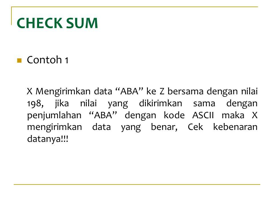 CHECK SUM Contoh 1.