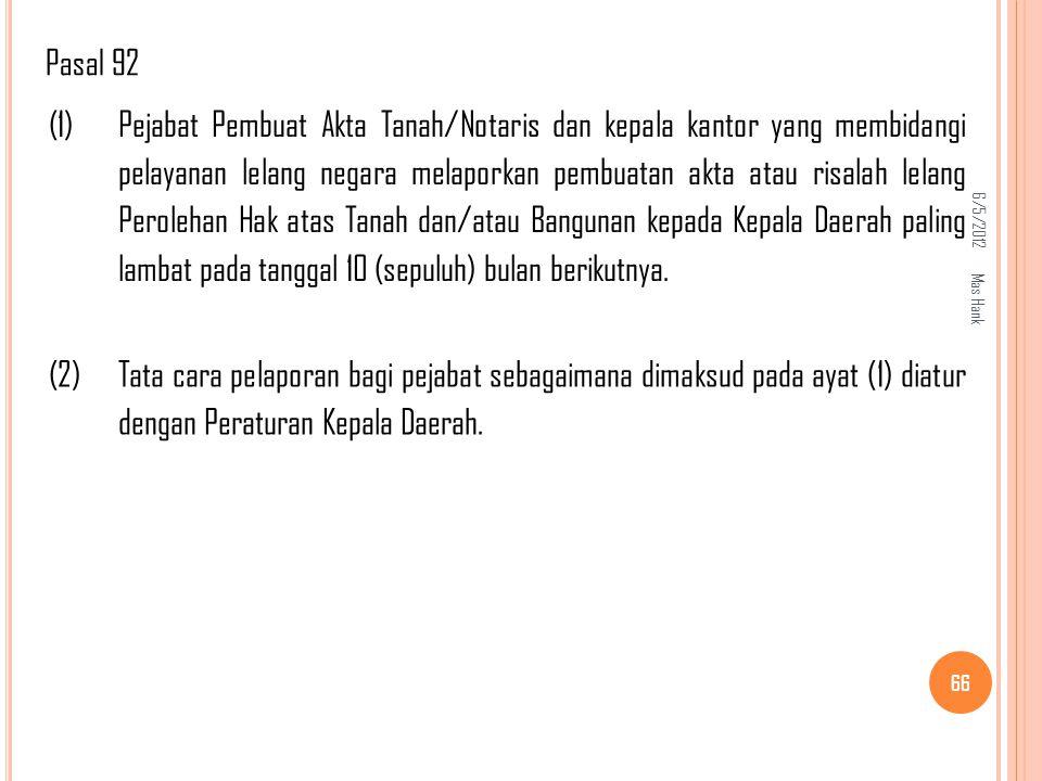 Pasal 92 (1)