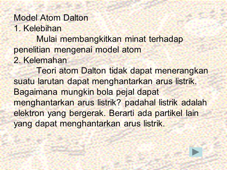 Model Atom Dalton 1. Kelebihan