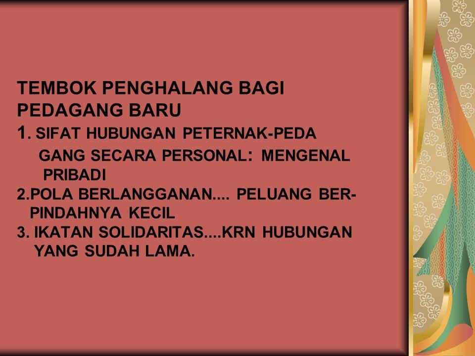 TEMBOK PENGHALANG BAGI PEDAGANG BARU 1
