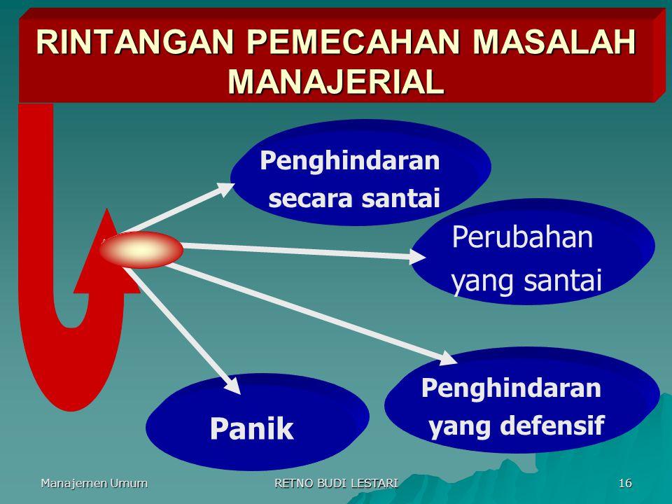 RINTANGAN PEMECAHAN MASALAH MANAJERIAL