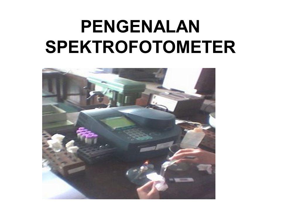 PENGENALAN SPEKTROFOTOMETER