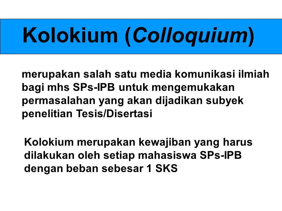 Kolokium (Colloquium)