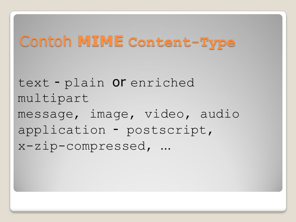 Contoh MIME Content-Type