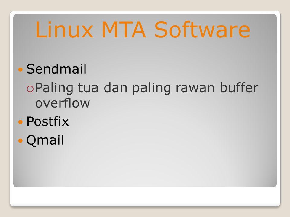 Linux MTA Software Sendmail