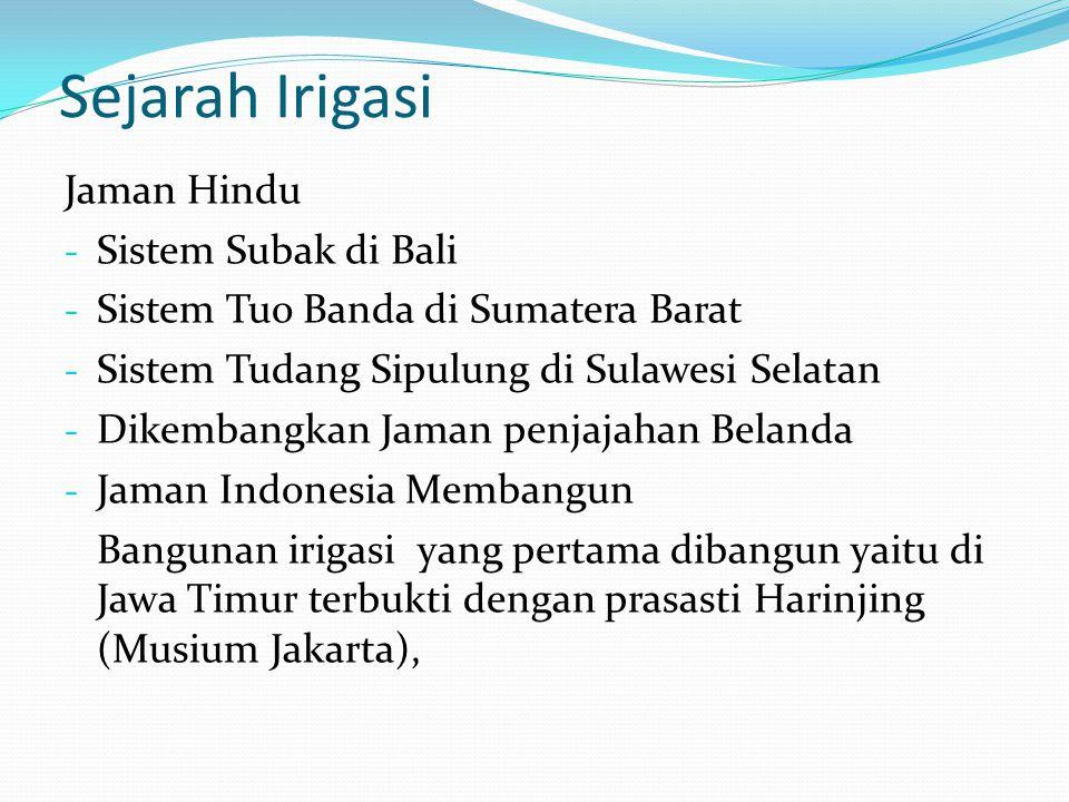 Sejarah Irigasi Jaman Hindu Sistem Subak di Bali