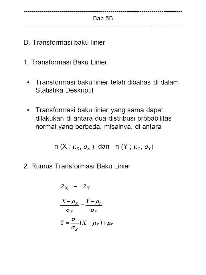 1. Transformasi Baku Linier