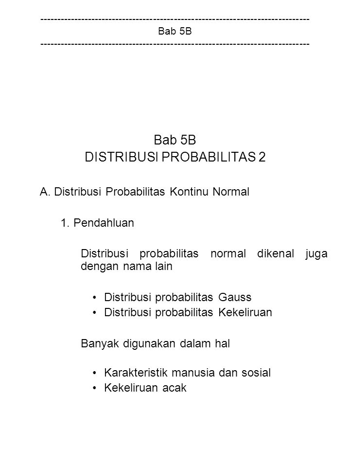 DISTRIBUSI PROBABILITAS 2