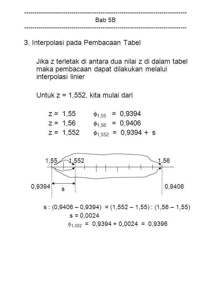 3. Interpolasi pada Pembacaan Tabel