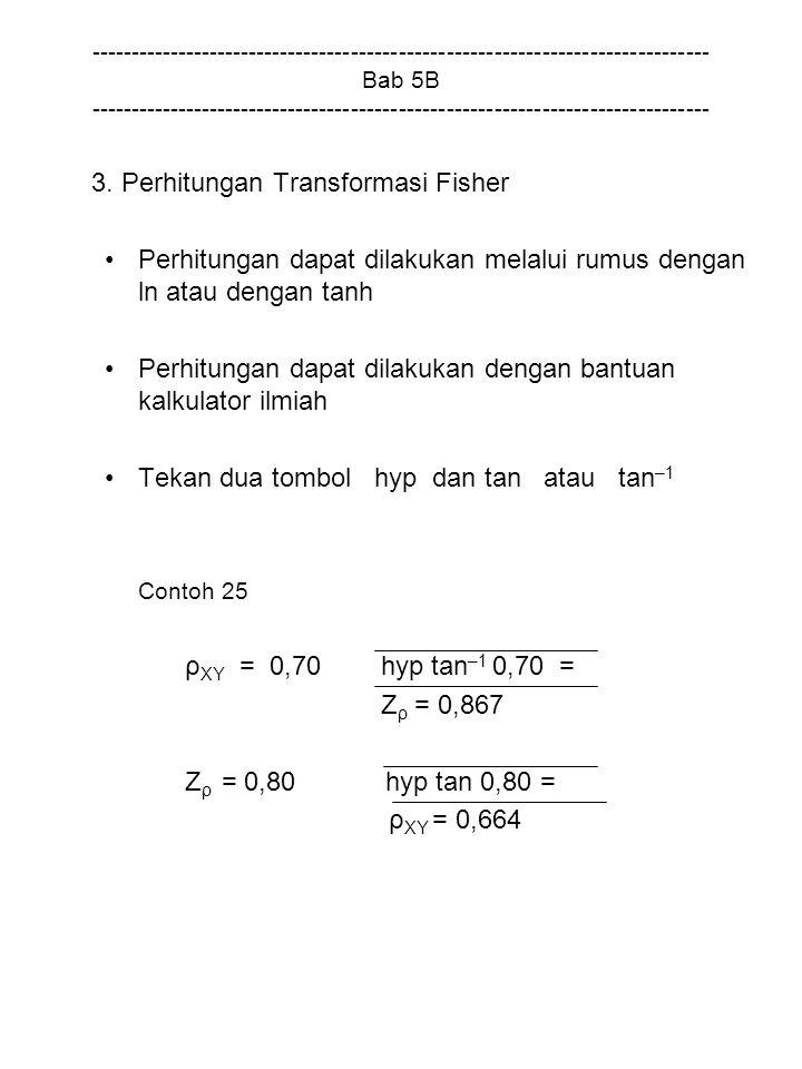 3. Perhitungan Transformasi Fisher