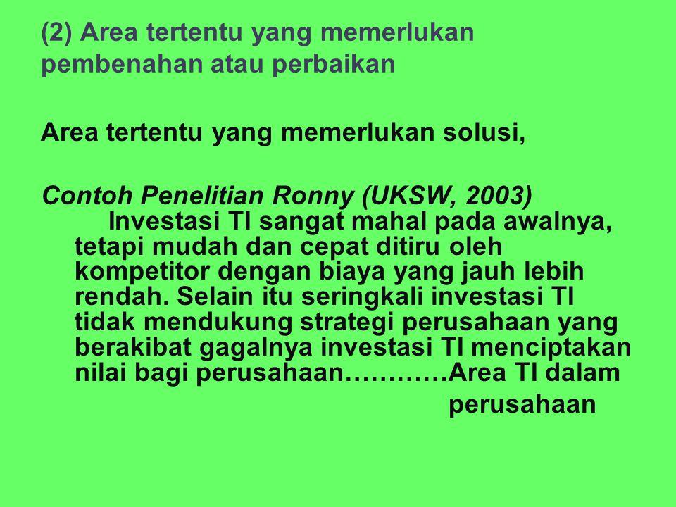 (2) Area tertentu yang memerlukan pembenahan atau perbaikan