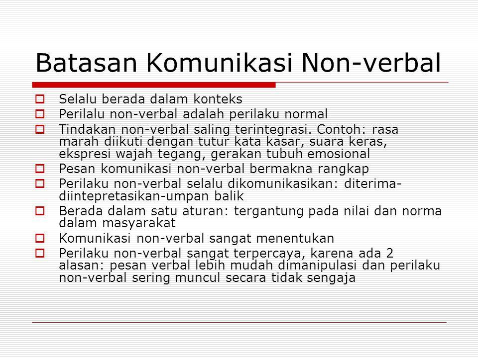 Batasan Komunikasi Non-verbal