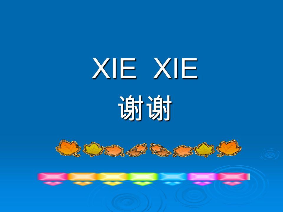 XIE XIE 谢谢