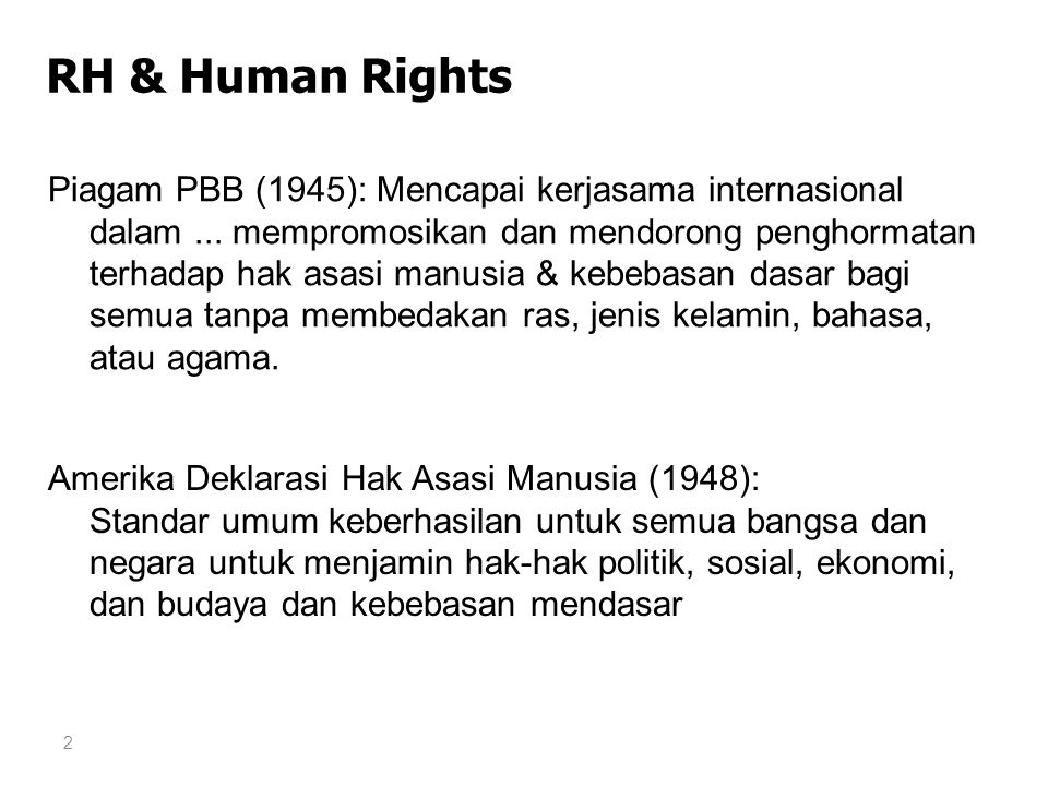 RH & Human Rights
