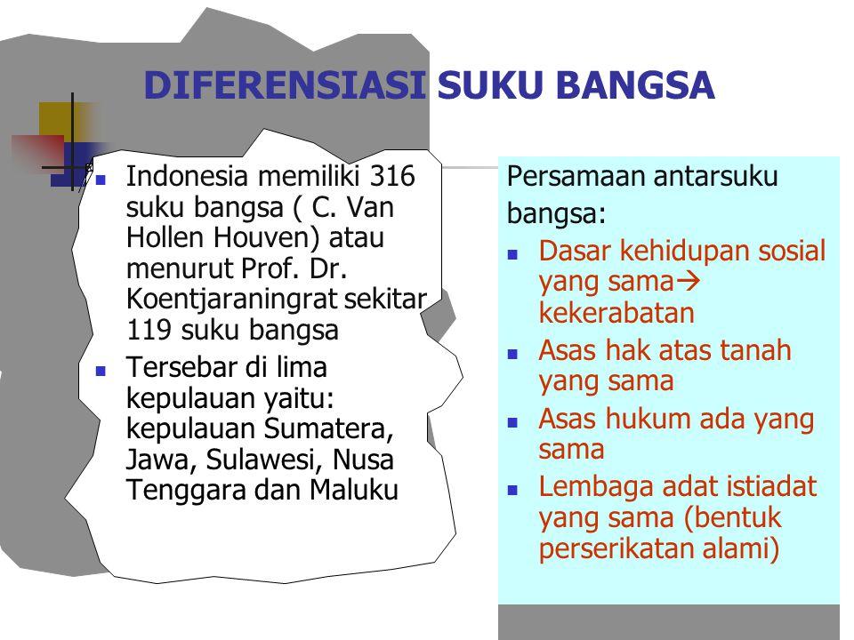 DIFERENSIASI SUKU BANGSA