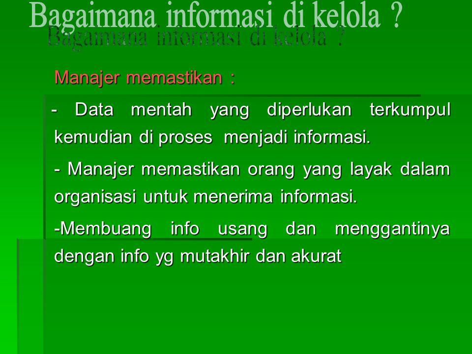 Bagaimana informasi di kelola