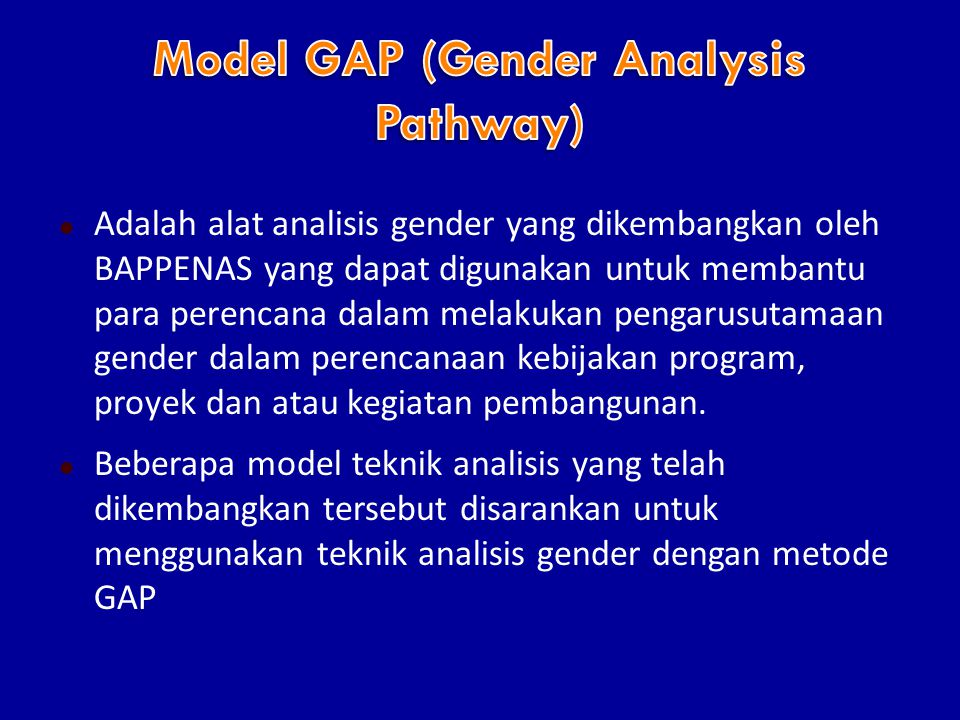 Model GAP (Gender Analysis Pathway)