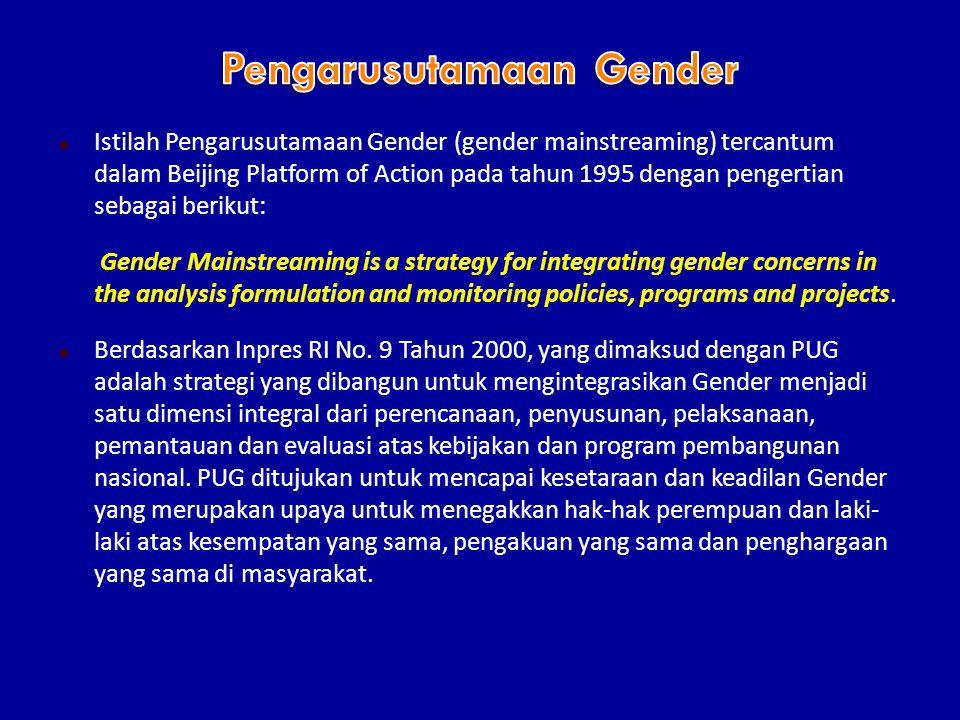 Pengarusutamaan Gender