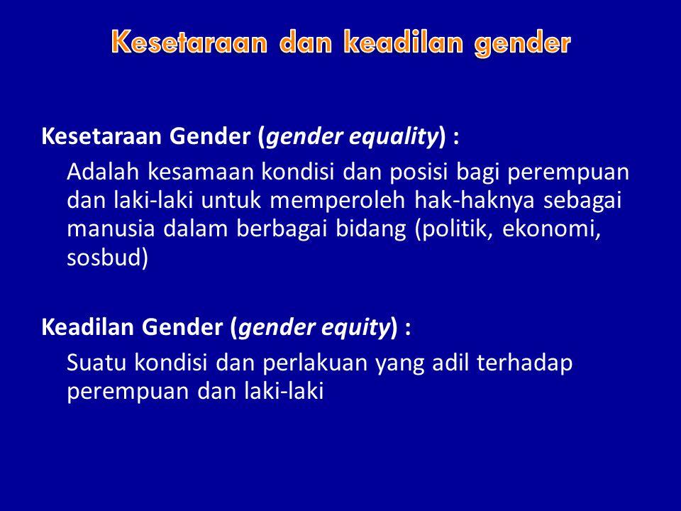 Kesetaraan dan keadilan gender