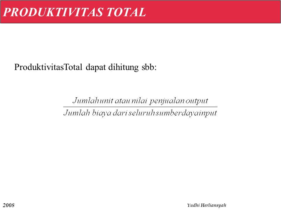 ProduktivitasTotal dapat dihitung sbb: