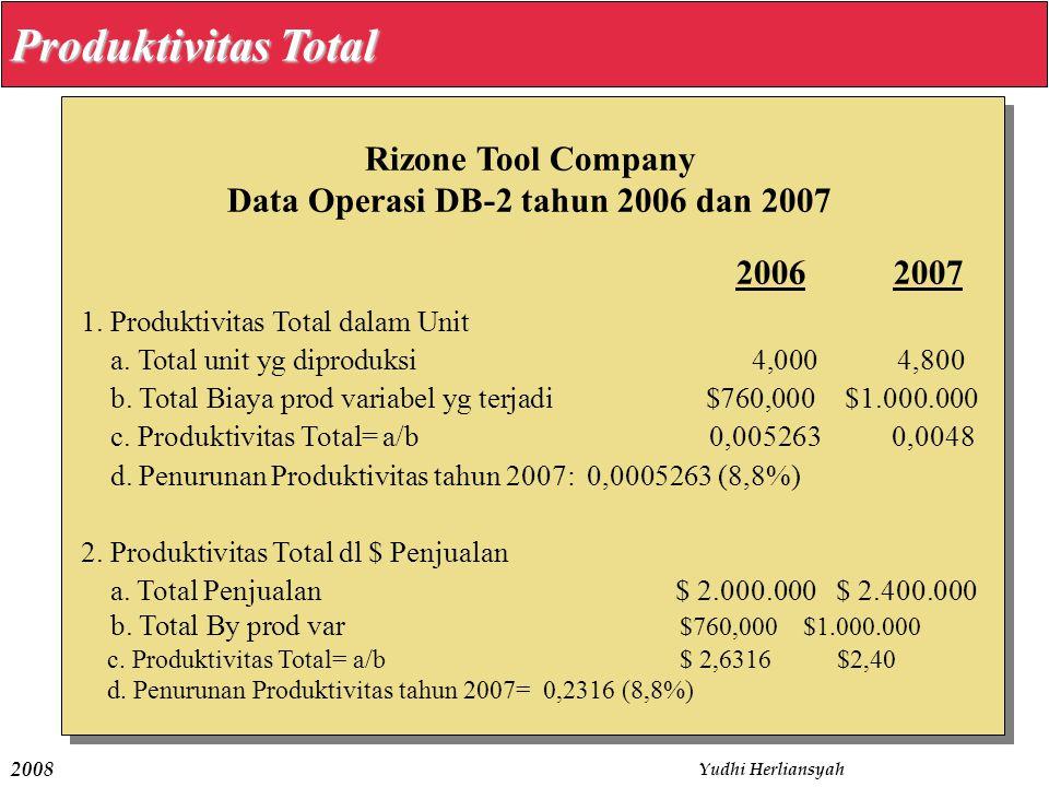 Data Operasi DB-2 tahun 2006 dan 2007