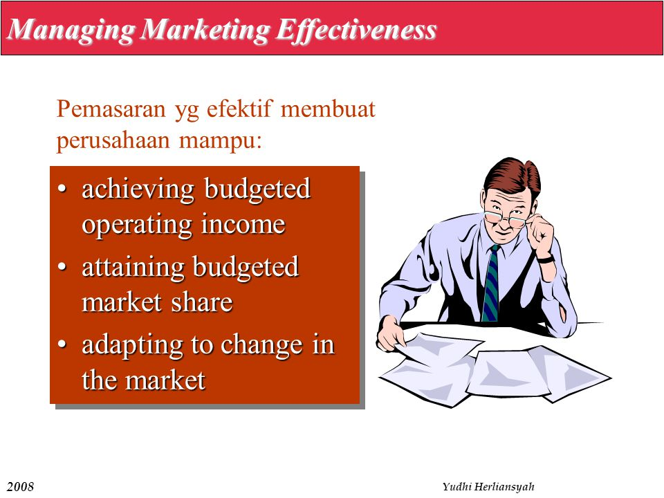 Managing Marketing Effectiveness