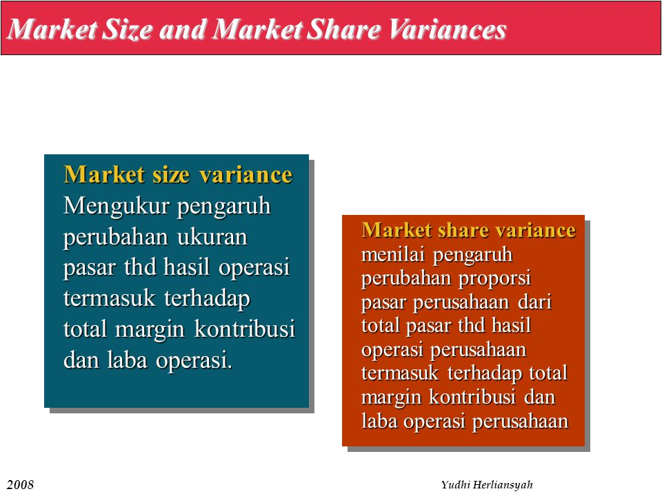 Market Size and Market Share Variances
