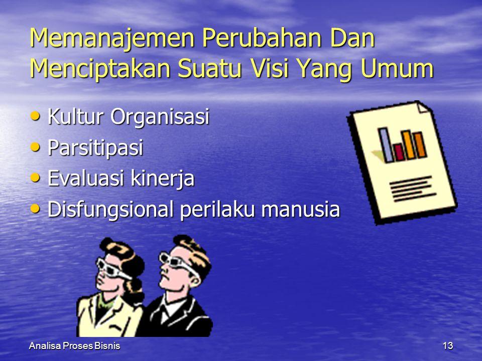 Memanajemen Perubahan Dan Menciptakan Suatu Visi Yang Umum