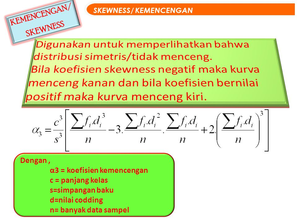 SKEWNESS/ KEMENCENGAN