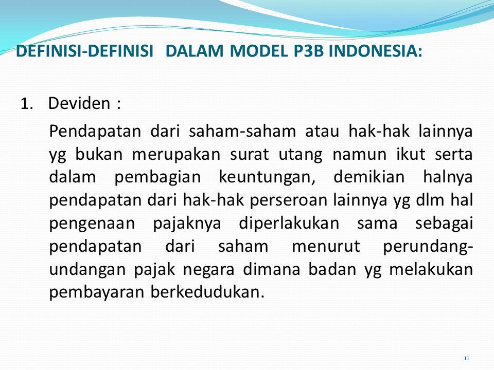 DEFINISI-DEFINISI DALAM MODEL P3B INDONESIA: