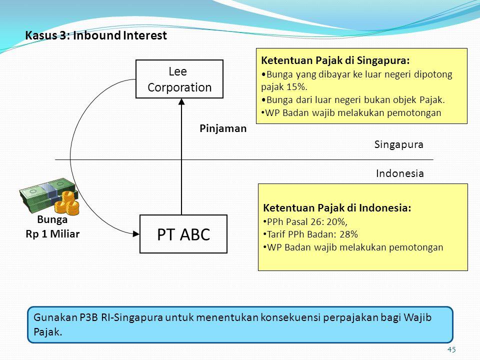 PT ABC Kasus 3: Inbound Interest Lee Corporation